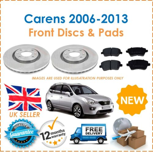 For Kia Carens 2006-2013 Two Front Vented 280MM Brake Discs /& Brake Pads Set New