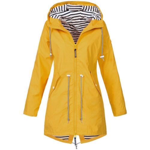 Women Waterproof Wind Jacket Coat Raincoat Ladies Hoodies Zipper Outdoor Outwear