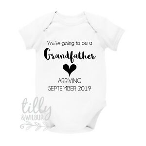 You/'re Going To Be A Grandfather Personalised Due Date Pregnancy Announcement