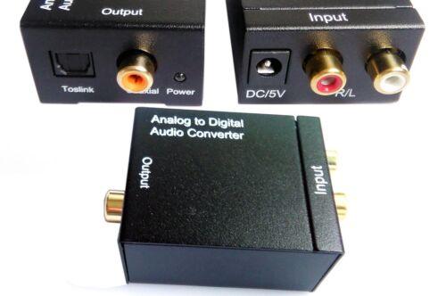 SPDIF Optical Coaxial Coax RCA LR Digital Analog Audio Converter Adapter Easyday