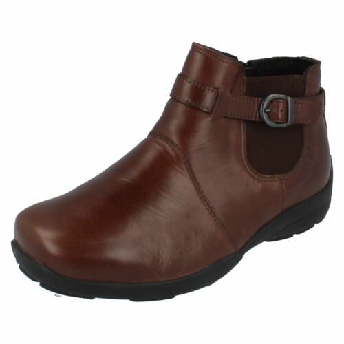 Ladies leather EASY B Wide fitting ankle boots style DART
