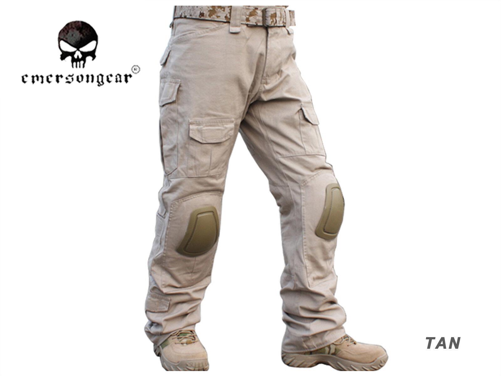 Hombres Pantalones BDU Combate Militar Airsoft Emerson Tactical Gen2 Pantalones Con Rodillera