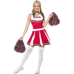 Smi Damen Kostum Cheerleader Kleid Pompons Karneval Fasching Ebay