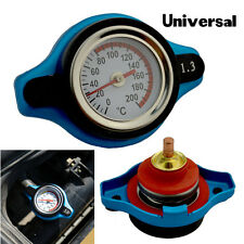 1.3 Bar Small Bule Head Safety Thermo Temp Gauge Radiator Cap For Car Universal