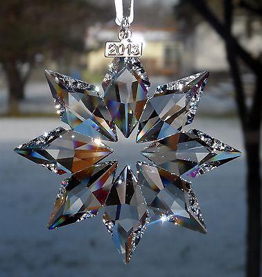 SWAROVSKI Crystal STAR SNOWFLAKE 2013 Christmas Ornament NEW in Box #5004489