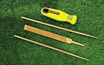 Chainsaw Saw Chain Sharpening Kit 7//32/'/' 404 Saw Chain Round Handle Flat File