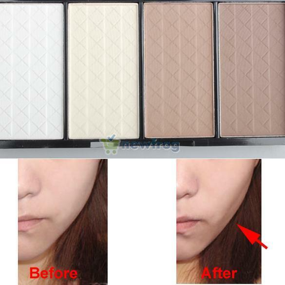 4 Color Cosmetic Highlighter Bronzer Tan Contour Powder Face Make Up Palette