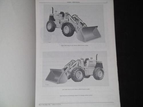 JOHN DEERE JD644 644 LOADER PARTS MANUAL BOOK PC-1110