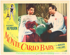 MONTE CARLO BABY LOBBY CARD 11X14 Size Movie Poster Card #6 AUDREY HEPBURN