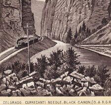 Colorado Black Canon D.&R.G.R. 1890's Railroad Train photo-style Dr Hartman Card