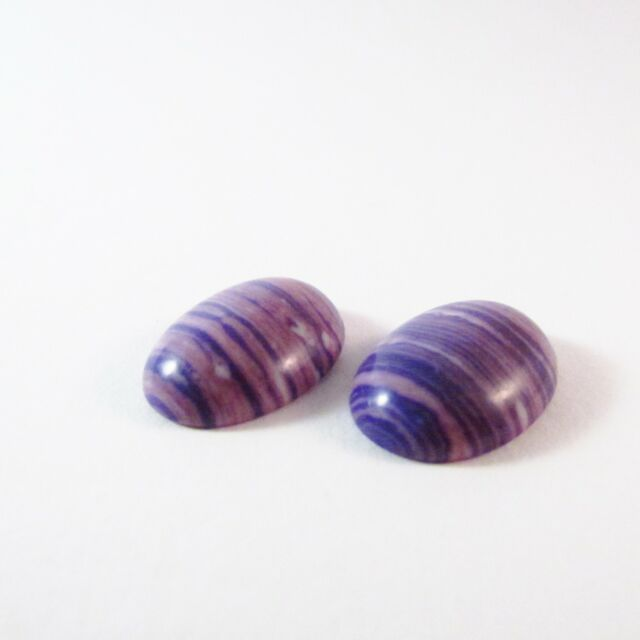 2 Cabochons synt. Türkis 18x13mm