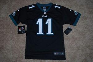 243b4357 Details about NEW Nike #11 Carson Wentz Philadelphia Eagles Black NFL  Jersey (Youth Large)