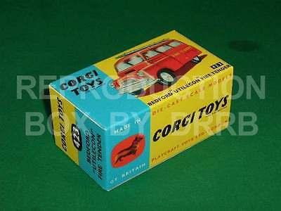 Corgi #423 Bedford Fire Tender-Caja de reproducción por drrb