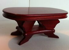 Mahogany Table Oval. Dolls House Miniature Living / Lounge / Dining Room