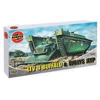 AIRFIX A02302 Buffalo Amphibian & Jeep 1:76 Military Model Kit