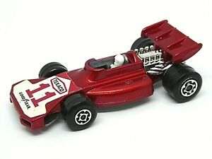Matchbox-Superfast-No-24d-Surtees-equipo-Matchbox-Raro-Texaco-11-Etiqueta-de-Coche-de-Carreras