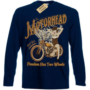 Motorhead-T-Shirt-biker-pinup-Mens-Long-Sleeve