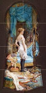 temptation-through-the-keyhole-lady-Zatzka-Tile-Mural-Backsplash-Marble-Ceramic