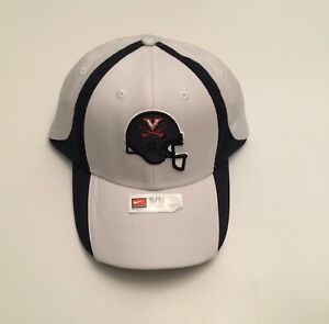 R1) University of Virginia UVA Cavaliers Nike Football White Small Medium Hat