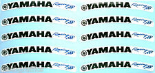 Laminated  Yamaha Wheel Rim Logo Sticker Decal x 10 BLACK R1 R6 FZ FJR TMAX WR