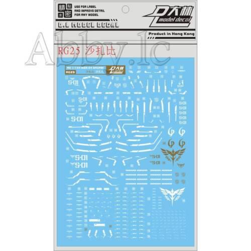 DL Water Decal Stickers for Bandai RG 1//144 MSN-04 Sazabi Gundam Model Gunpla