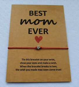 Image Is Loading Wish Bracelet Mothers Day Gift Card Best Mum
