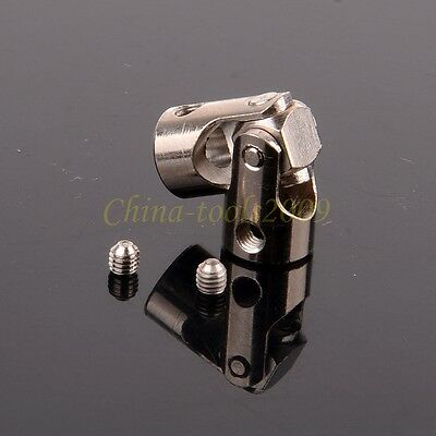 Shaft Coupling Motor connector DIY Stainless Steel Universal Joint + screws