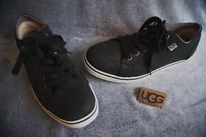 b0431cd40bf Details about UGG AUSTRALIA ROXFORD SNEAKERS, Mens: US 10 , Color: BLACK,  1001569
