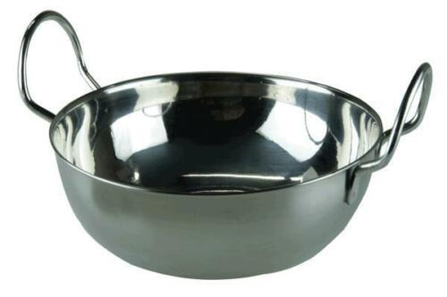 Apollo Stainless Steel Balti Curry Indian Serving Dish 15cm or 19cm
