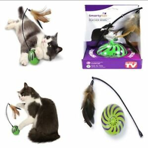 Feather-Whirl-Electronic-Motion-Cat-Toy-As-Seen-On-TV-Wand-Ball-Springs-Stick