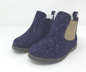 NWT-Toddler-Girls-GYMBOREE-Blue-amp-Gold-Fleck-Ankle-Boots-Booties-Sizes-5-7-amp-8
