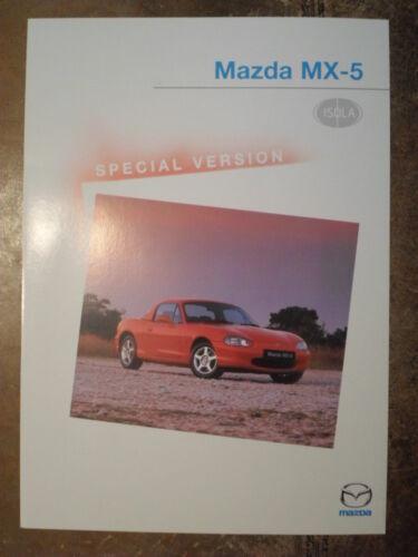 MX5 MAZDA MX-5 ISOLA Special Edition orig 2000 UK Mkt Sales Leaflet Brochure