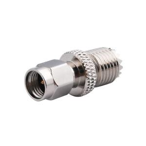 MINI-UHF-Female-Jack-TO-SMA-Male-Plug-Straight-RF-COAXIAL-Adapter-Connector