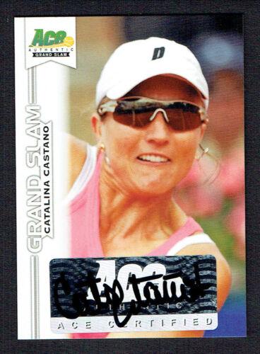 Catalina Castano #BA-CC1 Autographe Signé 2013 Ace Original Grand Slam Tennis