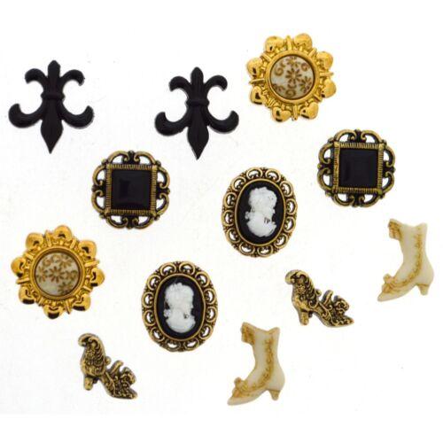 Jesse James-vestirla Botones-Victoriano Miniatures 101 Coser Crafts