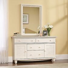 Sauder 158016 Harbor View Dresser Antiqued White Finish NEW