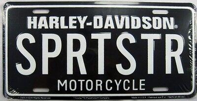 Harley Davidson Motorcycles LIV2RYD Licensed Aluminum Metal License Plate Tag