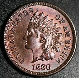 1880-INDIAN-HEAD-CENT-BU-UNC-With-CARTWHEELING-MINT-LUSTER