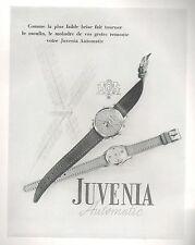 ▬► PUBLICITE ADVERTISING AD MONTRE WATCH JUVENIA Automatic 1948
