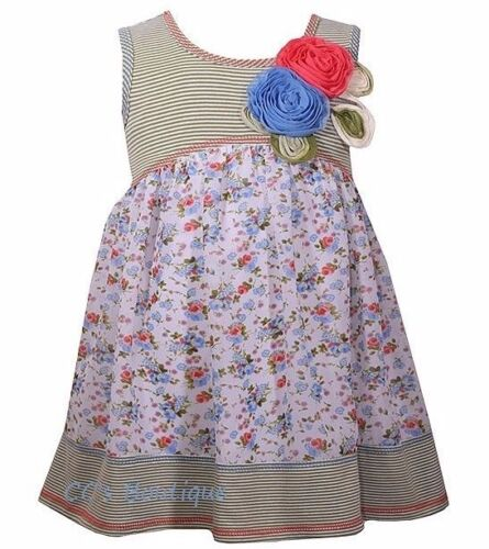 Girls BONNIE JEAN BABY dress 12M 24M NWT 6-12-18-24 sundress cloth flowers