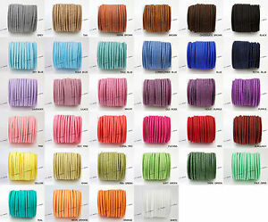 3mm x 1.5mm Faux Suede Cord Lace Bracelet Craft Jewelry Making (5yds Mini Spool)