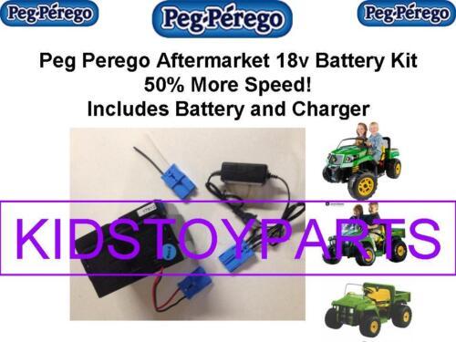 18V BATTERY /&CHARGER CONVERSION PEG PEREGO JOHN DEERE GATOR $20 CASH BACK OPTION
