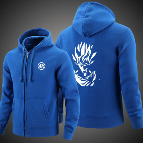 Dragon Ball Goku Zipper Hoodie Sweater Unisex Super Saiyan Clothes Coat Jack
