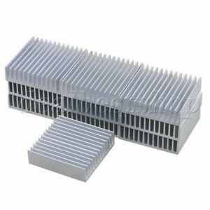 10pcs-Silver-Aluminium-Cooling-Fin-Radiator-Cooler-Heat-Sink-40x40x11mm