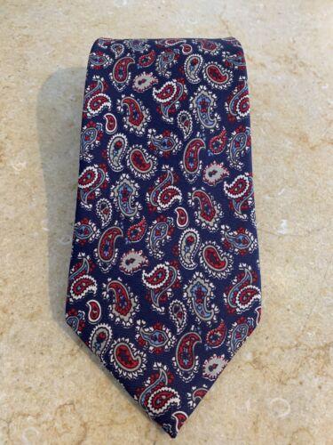 Italian 100/% silk SALE wine red burgundy blue white purple brown green dark vintage Halston 1970s silk tie texture paisley floral