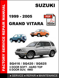 suzuki grand vitara 1999 2005 ultimate oem workshop repair service rh ebay com suzuki grand vitara 1999 workshop manual 1999 suzuki grand vitara service manual pdf