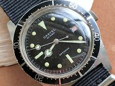 Vintage Cartel Divers Watch w/Red Date,Countdown Bezel,All SS Case FOR REPAIR