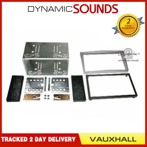 Car Double Din Stereo Facia Fascia Fitting Kit Silver For Vauxhall Corsa
