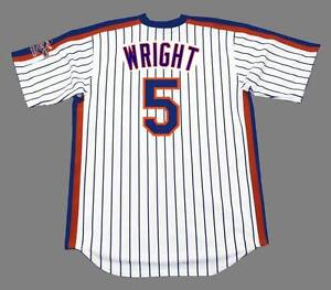 huge discount d9e02 f654a Details about DAVID WRIGHT New York Mets 1986 Majestic Throwback Home  Baseball Jersey