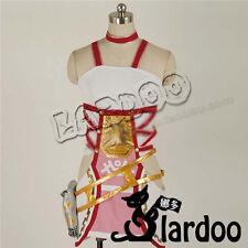 FINAL FANTASY XIII-2 Serah Farron Cosplay Costume White Dress Fighting Full Set